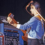 Frank Zappa with effects rack